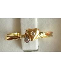 ขายแหวนทองคำเพชรแท้ 0.03 CT (มือสอง)
