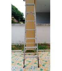 ขายบันไดช่างอลูมิเนียม 7 ขั้น 2.1 เมตร (พับได้) {มือสอง}