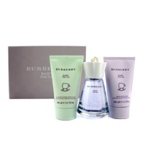 Burberry - Baby Touch Coffret: Eau De Toilette Spray 100ml/3.3oz + Gentle Baby Balm 100ml/3.3oz + Fo