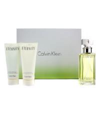 Calvin Klein - Eternity Coffret: Eau De Parfum Spray 100ml/3.4oz + Body Lotion 100ml/3.4oz + Shower