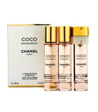 ชาแนล - สเปรย์น้ำหอม Coco Mademoiselle Twist & Spray EDT ขนาดเติม - 3x20ml/0.7oz