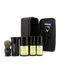 The Art Of Shaving - ชุดเดินทาง ( ไม่มีกลิ่น ):มีดโกน+ แปรงโกนหนวด+ น้ำมันก่อนโกน 30ml+ ครีมโกนหนวด