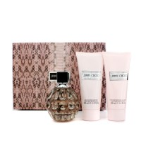 Jimmy Choo - Jimmy Choo Coffret: Eau De Parfum Spray 100ml/3.3oz + Body Lotion 100ml/3.3oz + Shower