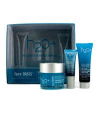 H2O+ - Face Oasis Daily Hydration System: Hydrating Treatment 50ml + Exfoliating Cleanser 30ml + Eye
