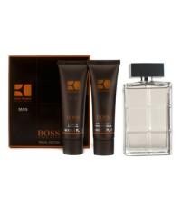 Hugo Boss - Boss Orange Man Coffret: Eau De Toilette Spray 100ml/3.3oz + A/S Balm 50ml/1.6oz + Showe