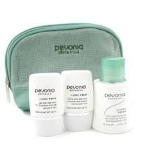 Pevonia Botanica - ชุด Your Skincare Solution Eye Care Holiday (รอบดวงตา): ทำความสะอาดเครื่องสำอางรอ