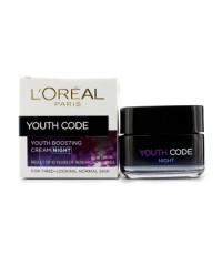 L'Oreal - ครีมกลางคืนกระตุ้นความอ่อนเยาว์ Youth Code (กลางคืน) (สำหรับผิวธรรมดา) - 50ml/1.7oz
