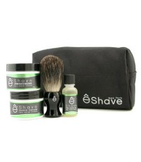 EShave - ชุดเริ่มต้น Verbena Lime: น้ำมันก่อนโกนหนวด + ครีมโกนหนวด + บำรุงหลังการโกน + แปรง + กระเป๋