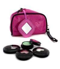 แอนนา ซุย - ชุด Eye Color : 3x อายแชโดว์ Accent + 1x Eye Gloss + กระเป๋าเครื่องสำอางสีชมพู - 4pcs+1b