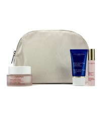 Clarins - Multi-Active Set: Day Cream 50ml + Night Cream 15ml + Skin Renewal Serum 10ml + Bag - 3pcs