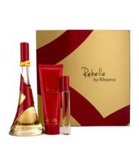 Rihanna - ชุด Rebelle Coffret: สเปรย์น้ำหอม EDP 100ml/3.4oz + บัตเตอร์บำรุงผิว 85g/3oz + โรเลอร์บอล