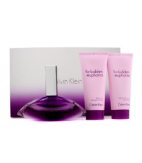 Calvin Klein - ชุด Forbidden Euphoria Coffret: สเปรย์น้ำหอม EDP 100ml/3.4oz + ครีมทาผิวกาย 100ml/3.4