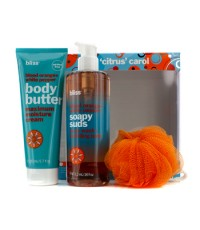 Bliss - A Citrus Carol Set: Blood Orange + White Pepper Body Butter 200ml + Body Wash 473.2ml + Show