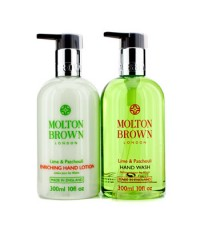 Molton Brown - The Lime & Patchouli Hand Care Set: Hand Wash 300ml + Hand Lotion 300ml - 2pcs
