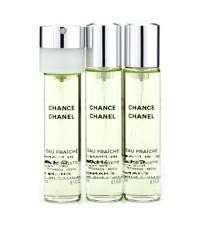 ชาแนล - สเปรย์น้ำหอม Chance Eau Fraiche Twist & Spray EDT รีฟิล - 3x20ml/0.7oz