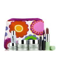 คลีนิกข์ - Travel Set: Repairwear Day Cream + Night Cream + Laser Focus + Eye Cream + Mascra #01 + L