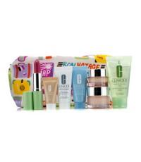คลีนิกข์ - Travel Set: Liquid Soap + Moisture Surge + Eye Cream + Turnaround Mask + City Block + Fou