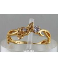 แหวนเพชร ทองคำ 416 (10K)