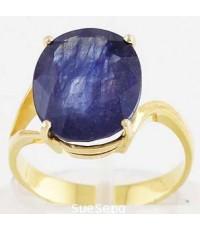 แหวนทองคำ 90 ฝังไพลิน