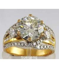 แหวนทองคำ 90 ฝังเพชรเม็ดใหญ่