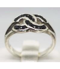 แหวนเงิน 925 ฝังนิล