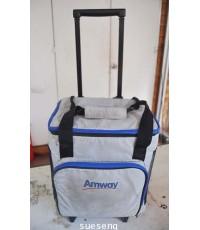 กระเป๋าผ้าใส่ของมีล้อลาก AMWAY
