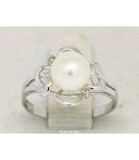 แหวนทองคำขาว 18K (750)