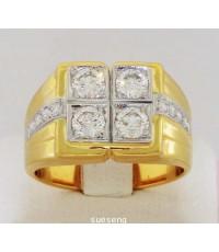 แหวนเพชรทองคำ 90