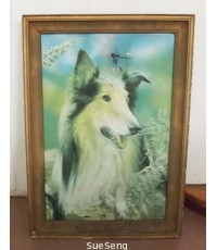 กรอบภาพนูนรูปสุนัข