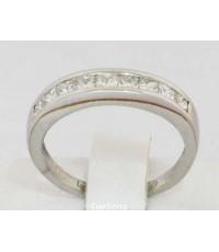 แหวนเพชรปริ้นเซล 9 เม็ด