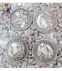 เหรียญต่างประเทศ ขนาด Ø 4.5 cm.