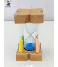 นาฬิกาทราย ฐานไม้
