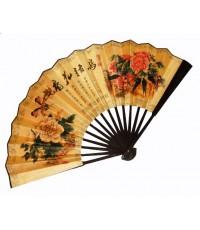 พัดจีนพับของสตรีลายดอกโบตั๋น