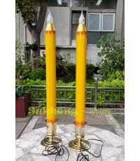 เทียนพรรษาไฟฟ้าคู่ ขนาดสูง  70 cm.