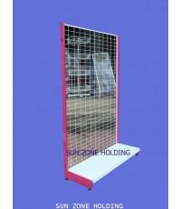 ชั้น Stand สำหรับแขวนโชว์สินค้าแบบด้านเดียว 1 แผ่นฐาน  Size   : 90 x 40 x 150 cm.