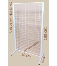 ชั้น Stand โชว์สินค้า(ชุดโครงแขวนตะขอ )  Size / ขนาด : 90 x 180 cm.   โครงแขวนตะขอ (Hook) ใช้สำหรับแ