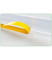 ป้ายราคาพลาสติกสำหรับใส่ราคา ด้านบนเป็นแถบกาว ขนาด 4 x 120 cm. รหัสสินค้า:000634