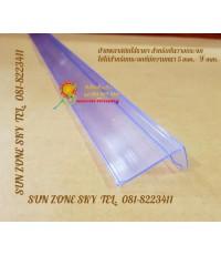 ป้ายพลาสติกใส่ราคา สำหรับชั้นวางกระจก  ใชได้สำหรับกระจก  size  4 x120 cm. รหัสสินค้า:000707
