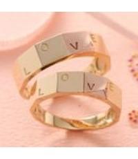 แหวนคู่ทองชมพูมิกส์ทอง 14k LOVE