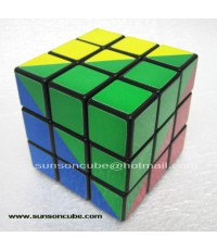 Maru 3x3x3 Ruben king 4 colors sticker style - Black cube