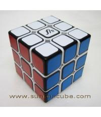 3x3x3 Fangshi - Shuangren / White Body with Black Cap