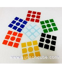 Sticker รูบิค 3x3x3  with O - Center ( 7 colors ) for GANs cube