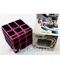 Mirror Block with carbon-fiber stikcer - ฺPink cube