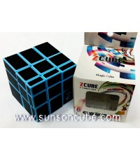 Mirror Block with carbon-fiber stikcer - ฺBlue cube