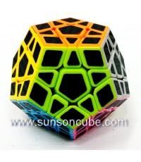 Megaminx with Black Carbon Sticker - Cube Style   / Black
