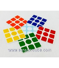 Sticker 3x3x3  with  O - Center ( 6 colors )