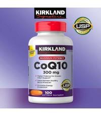 คิวเท็นCoQ10 300 mg 100 softgelsต้านริ้วรอย,ให้ผิวขาวใส,kirkland