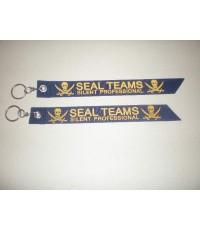 พวงกุญแจผ้า พิมพ์ลาย SEAL TEAMS