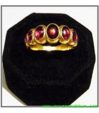 แหวนโกเมน ทองคำ 100