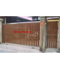 ประตูสเตนเลส ผสมอลูมิเนียมลายไม้ AW-097